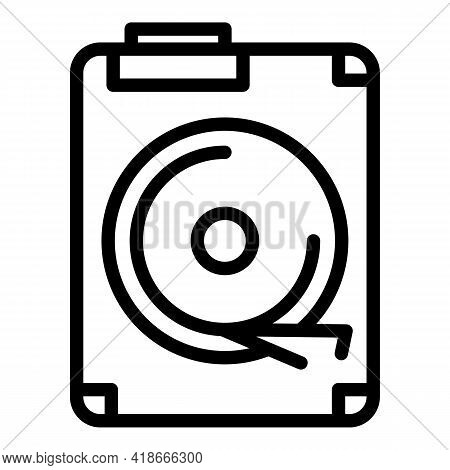 Big Data Disc Icon. Outline Big Data Disc Vector Icon For Web Design Isolated On White Background