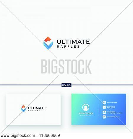 Ultimate Logo Abstract V Letter U Letter V Logo