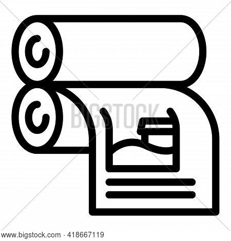 Printing Mechanism Icon. Outline Printing Mechanism Vector Icon For Web Design Isolated On White Bac