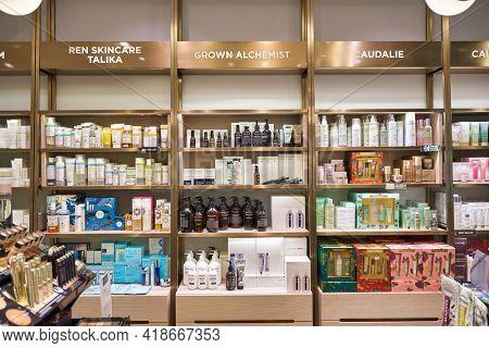 KUALA LUMPUR, MALAYSIA - CIRCA JANUARY, 2020: interior shot of KENS apothecary store in Suria KLCC shopping mall in Kuala Lumpur.