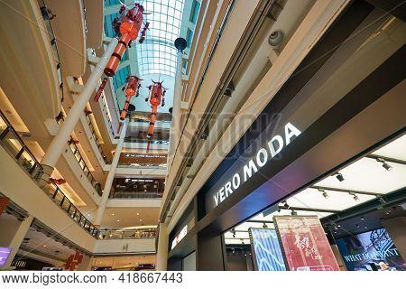 KUALA LUMPUR, MALAYSIA - CIRCA JANUARY, 2020: Vero Moda sign over store entrance in Suria KLCC shopping mall in Kuala Lumpur.