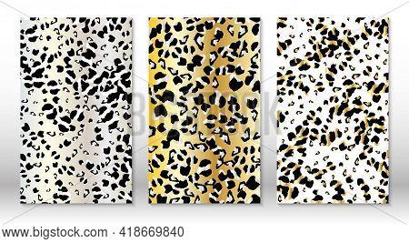 Animal Skin Leopard Pattern. Cheetah Print. Covers Design Template. Leopard Print Design.