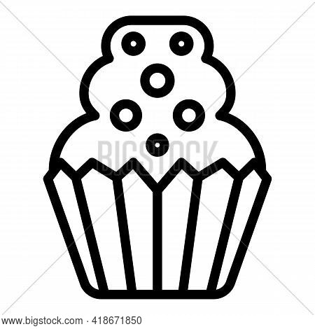 Pastry Muffin Icon. Outline Pastry Muffin Vector Icon For Web Design Isolated On White Background