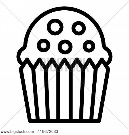 Decoration Muffin Icon. Outline Decoration Muffin Vector Icon For Web Design Isolated On White Backg
