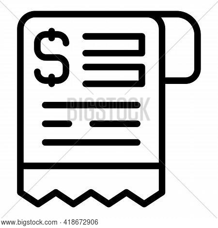 Order Bill Icon. Outline Order Bill Vector Icon For Web Design Isolated On White Background