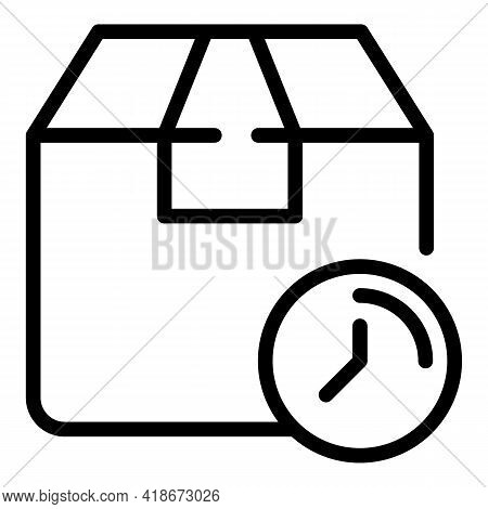 Pending Parcel Icon. Outline Pending Parcel Vector Icon For Web Design Isolated On White Background