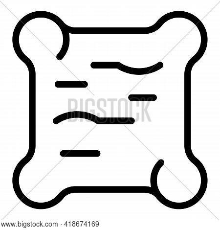 Sleeping Pillow Icon. Outline Sleeping Pillow Vector Icon For Web Design Isolated On White Backgroun