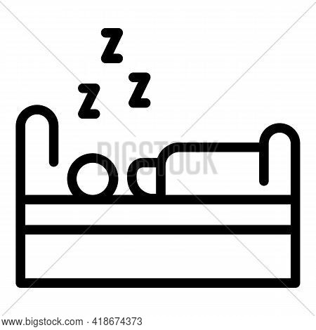 Bedtime Icon. Outline Bedtime Vector Icon For Web Design Isolated On White Background