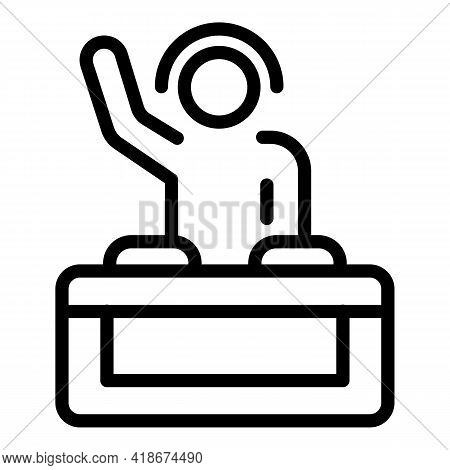 Dj Party Icon. Outline Dj Party Vector Icon For Web Design Isolated On White Background