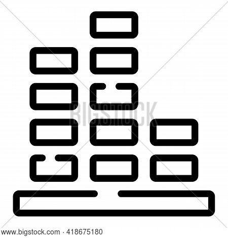 Disco Music Volume Icon. Outline Disco Music Volume Vector Icon For Web Design Isolated On White Bac