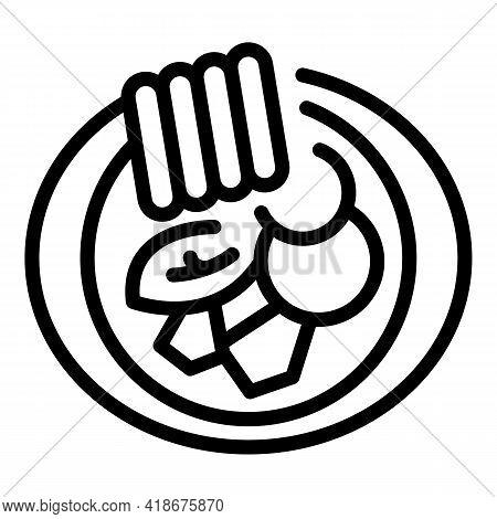 Korean Menu Icon. Outline Korean Menu Vector Icon For Web Design Isolated On White Background