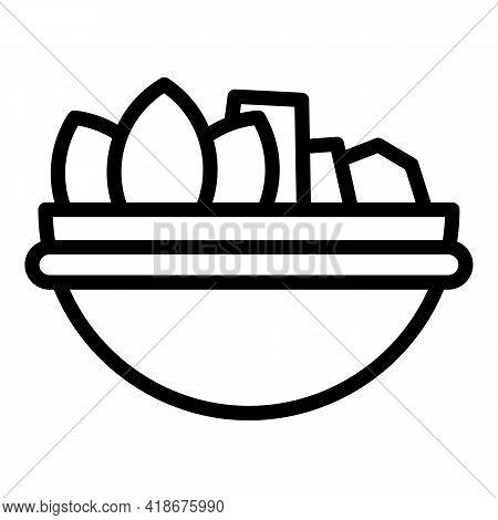 Korean Vegetables Icon. Outline Korean Vegetables Vector Icon For Web Design Isolated On White Backg