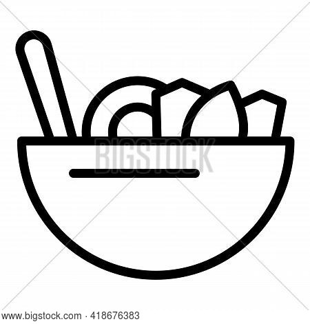 Raw Korean Food Icon. Outline Raw Korean Food Vector Icon For Web Design Isolated On White Backgroun