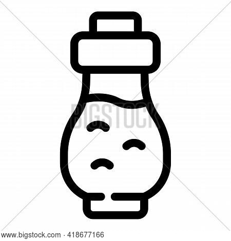 Soy Sauce Ingredient Icon. Outline Soy Sauce Ingredient Vector Icon For Web Design Isolated On White