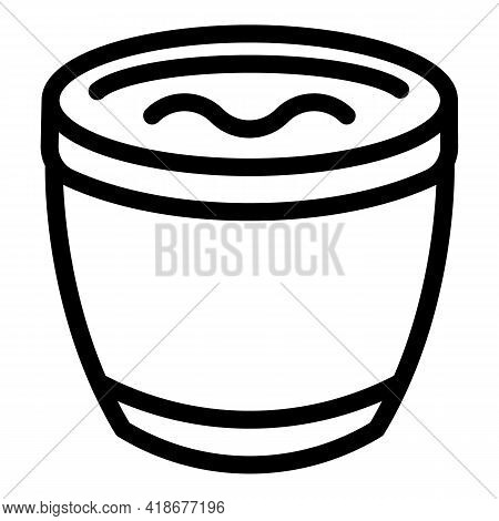 Healthy Soy Sauce Icon. Outline Healthy Soy Sauce Vector Icon For Web Design Isolated On White Backg