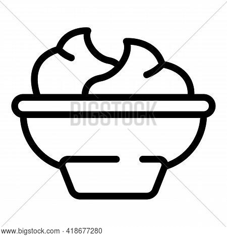 Wasabi Bowl Icon. Outline Wasabi Bowl Vector Icon For Web Design Isolated On White Background