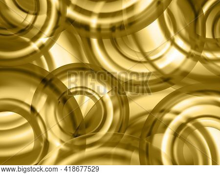 Blurred Hologram Texture Gradient Wallpaper With Circle Shapes. Neon Party Graphics Background. Liqu