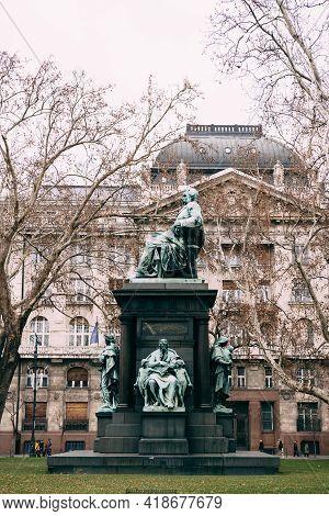 Ferenc Deak Monument In Szechenyi Square, Budapest
