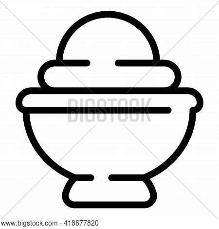 Wasabi Ingredient Icon. Outline Wasabi Ingredient Vector Icon For Web Design Isolated On White Backg
