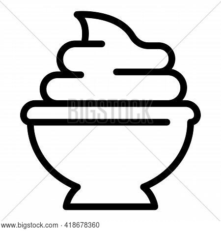 Wasabi Paste Icon. Outline Wasabi Paste Vector Icon For Web Design Isolated On White Background