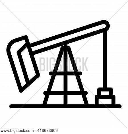 Kerosene Industry Icon. Outline Kerosene Industry Vector Icon For Web Design Isolated On White Backg