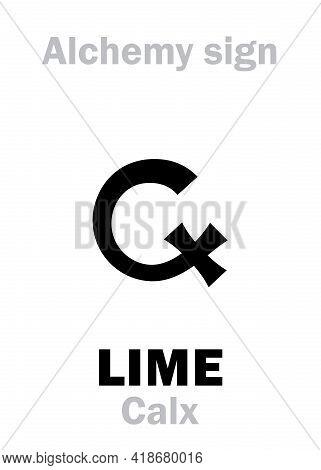 Alchemy Alphabet: Lime (calx) / Limestone, Chalk. Also: Calcia, Calcinare, Calcination. Calcite, Cal