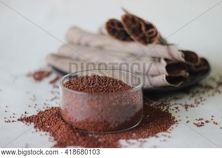 Finger Millet Grains, A Staple Food In Many African And South Asian Countries.