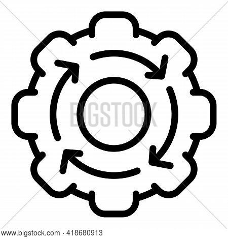 Implementation Icon. Outline Implementation Vector Icon For Web Design Isolated On White Background