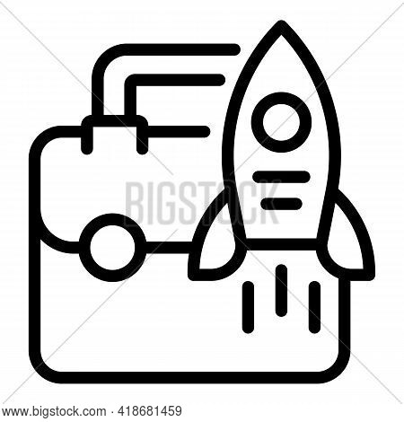 Business Startup Icon. Outline Business Startup Vector Icon For Web Design Isolated On White Backgro