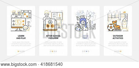 Activities For Kids - Line Design Style Web Banners
