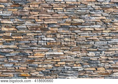 Stone Wall, Stone Wall Texture Background Stone Wall Texture Background. Made Of Horizontally Placed