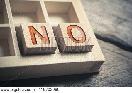 No Written On Wooden Blocks In A Type Case