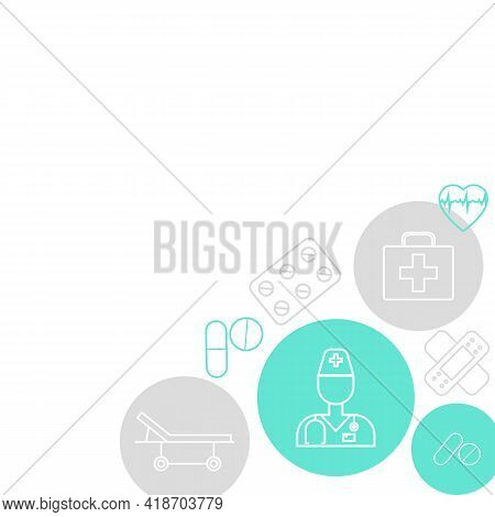 Abstract Medical Background For Card, Poster, Post In Social Network. Vector Illustration