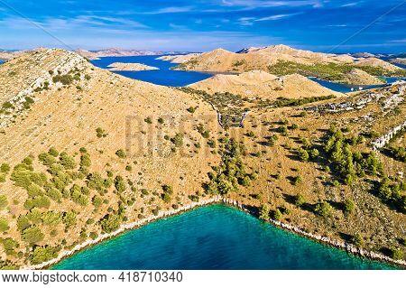Kornati. Stone Desert Island Archipelago Landscape Of Kornati National Park Aerial View, Dalmatia Re