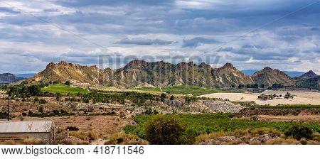 Landscape View Of Villanueva Near Murcia In Spain, Europe