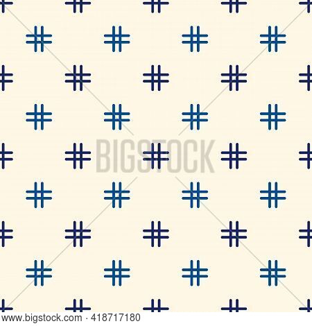 Seamless Surface Pattern With Strokes. Repeated Broken Horizontal Lines. Dashes Motif. Simple Geomet