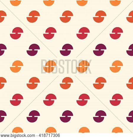 Mini Circle Seamless Pattern. Classic Geometric Surface Print. Repeated Polka Dot Motif Ornament. Si