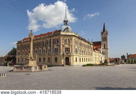 City Hall Of The City Of Keszthely, Located On The Shores Of Lake Balaton, Hungary.
