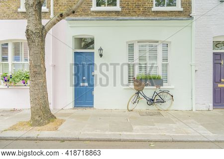 July 2020. London. Colourful Buildings In Notting Hill, London, England Uk