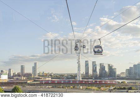 July 2020. London. Emirates Cable Car London England