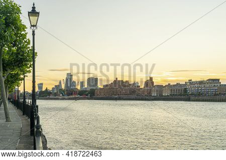 July 2020. London. City Of London Anmd River Thames, London, England