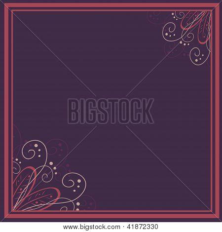 vector vintage floral  background and frame