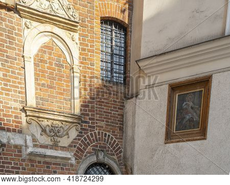 Krakow Poland August 2020. Church Of St. Barbara Krakow, Old Town, Lesser Poland, Poland