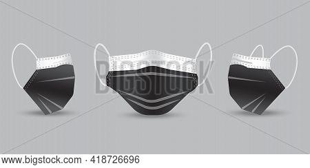 Realistic Protective Medical Face Mask. Health Care. 3d Medical Mask. Coronavirus Pandemic. Vector I