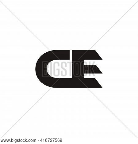Vector Of Abstract Letter Ce Geometric Logo Vector