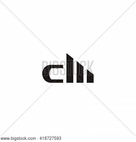 Abstract Letter Cm Building Tall Apartment Symbol Logo Vector