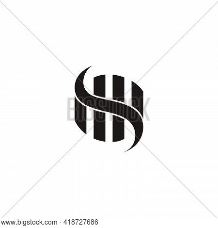 Abstract Curves Stripes Object Dimensional Flat Geometric Vector