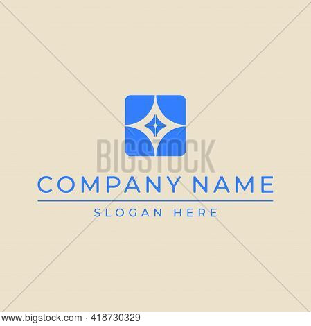 Abstract Logo For It Company, Finance, Business Center, Photo Studio Or Computer Equipment. Symbol,