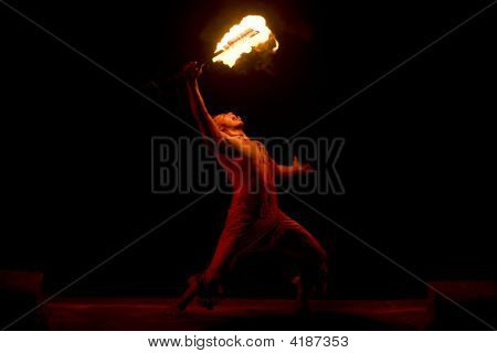 Hawaiian Fire Dancer