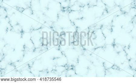 Blue Marble Texture Background. Abstract Backdrop Of Marble Granite Stone. Vector Illustration
